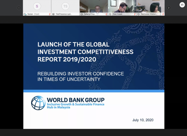 Launch of the Global Investment Competitiveness Report 2019/2020: Rebuilding Investor Confidence in Times of Uncertainty