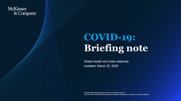 COVID-19: Implications for business. Briefing Note (Updated 25 March, 2020)