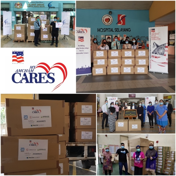 AMCHAM Members PPE Contribution to 5 hospitals in Malaysia