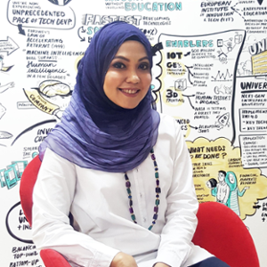 Nadira Yusoff (Managing Director  of  Girls in Tech, Malaysia)